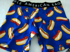 """American Eagle Mens 6"""" Boxer Brief Large Fit Waist Size 35""""-38 Hotdogs"""