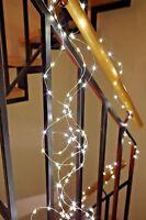 100 200 Led Draht Lichterkette Timer warmweiß Strom Lichterketten Silberdraht