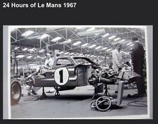 1967 Ford GT 40 On Rack 24hrs Of Le Mans Rare Awesome Car Poster! Own It!