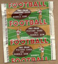 1954 BOWMAN FOOTBALL WAX PACK WRAPPER   VERY CLEAN