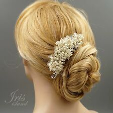 Bridal Hair Comb Pearl Crystal Headpiece Hair Clip Wedding Accessories 09985 S