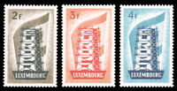 Luxembourg 1956 REBUILDING EUROPE SET MNH #318-320 CV$155.00