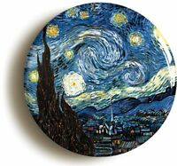 STARRY NIGHT VINCENT VAN GOGH BADGE BUTTON PIN (Size is 2inch / 50mm diameter)