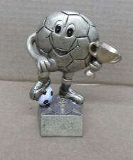 Soccer award trophy resin cup ball star small
