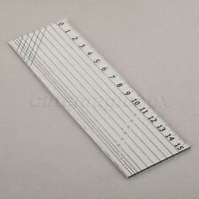 Transparent Sew Easy Rectangle Patchwork Ruler Qulting Sewing Cutting Kit 15x5cm