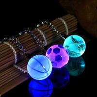Beautiful Crystal Ball 3D Engraved Key Chain Ring Keyring Keychain LED GlowX1