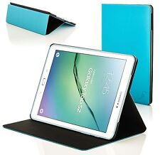 Clam Shell Smart Case Cover for Samsung Galaxy Tab S2 9.7 T810 Blue