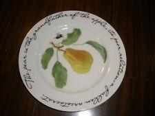 "Williams Sonoma Orchard Suite PEAR 7 3/4"" Salad Dessert Plate Francoise Pierre"