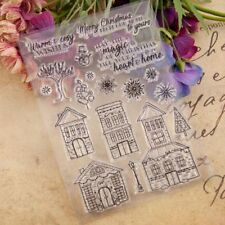 House Silicone Clear Stamp Seal DIY Scrapbooking Embossing Album Card Craft
