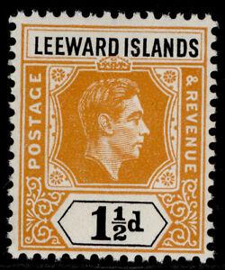 LEEWARD ISLANDS GVI SG102, 1½d yellow-orange & black, NH MINT.