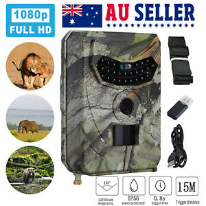 HD Trail Hunting Camera 1080P Outdoor 12MP Game Wildlife Cam PIR Night Vision