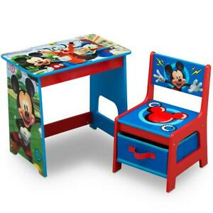 Mickey Mouse Kids Desk And Chair Set For 3 4 5 6 Year Old Boys Bedroom Furniture