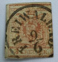 1850's AUSTRIA STAMP WITH RARE FREIWALDAU SON CANCEL (RENAMED JESENIK IN 1947)