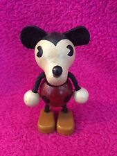 Rare Vintage Toy Young Epoch Disney Mickey Mouse 3.5in Wood Figure