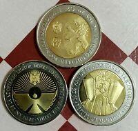 Moldova 10 lei Commemorative Coins 2018, 2019, 2020  #7,8,9-1