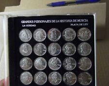 Grandes Personajes de la História de Murcia, 20 monedas plata,  la verdad 1996