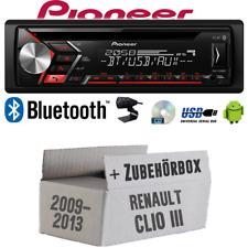 Autoradio Radio Pioneer für Renault Clio 3 FL | Bluetooth USB MP3 CD | Einbauset