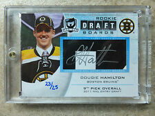 13-14 UD The Cup Autographed Rookie RC Draft Boards DOUGIE HAMILTON /25