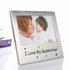 I Love My Godmother Photo Frame Picture Christmas Birthday Christening Occasion