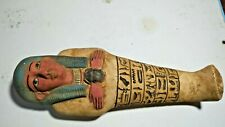Rare Ancient Ushabti Egyptian Faience Bc Era Shabti Egypt Antique Statue art