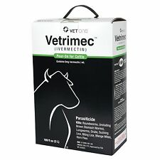 Vetrimec (Ivermectin) Pour On 2 x 5 Liter Cattle Worm & Lice Control
