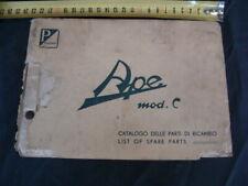 Manuale catalogo parti di ricambio Ape C AC1 calessino