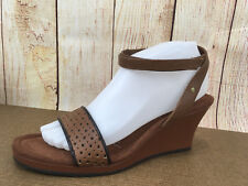 Rockport by adidas Women's Sz 9 Emily Band Ankle Strap Wedge Brown H6(5)