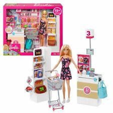 Barbie Supermarkt und Puppe | Barbie | Mattel FRP01 | Spielset & Accessoires