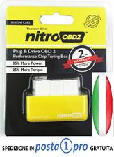 NITRO OBD2 OBDII Modulo aggiuntivo GIALLO centralina auto BENZINA NITROOBD 2