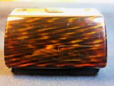TORTOISE SHELL COLORED EVENING CLUTCH