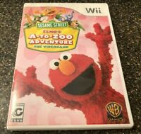Sesame Street: Elmo's A-to-Zoo Adventure - The Videogame - Nintendo Wii - CIB