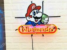 "Nintendo Game Room Beer Artwork Neon Light Sign 20""x16"" HD Vivid Printing"