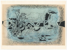 G. Braque (*1882): Trabrennen/harness racing III.- Farblithographie (VERVE) 1955