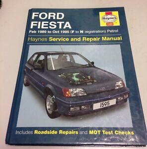 Haynes workshop Manual. Ford FIESTA. Feb 1989 to Oct 1995 F to N Reg Petrol.(BC1