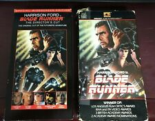 Blade Runner Vhs 1982 Original Embassy Harrison Ford and 1997 Directors cut Ws