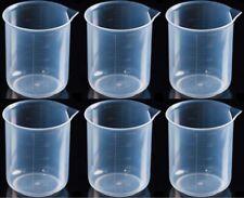 Plastic Graduated Beaker With Spout 500 Ml Set Of 6