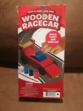 NEW Build & Paint Your Own Wooden Race Cars For Kids  W-7