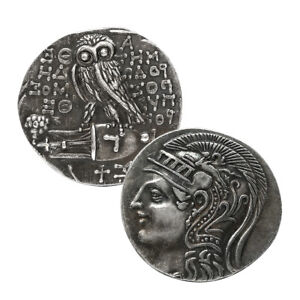Greek Coins Athena & Owl Goddess of Wisdom Famous Greek Coins Unique Gifts Craft