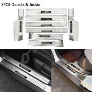 8PCS Door Sill Scuff Moulding Cover Trim Fit for Nissan X-Trail 2014-2021