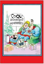 Accountant Underwear - Superhero Merry Christmas Greeting Card