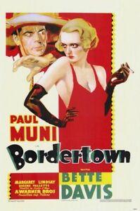 Bordertown - 1935 - Paul Muni Bette Davis Archie Mayo Vintage Drama Film DVD