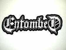 ENTOMBED  WHITE  LOGO   EMBROIDERED BACK PATCH