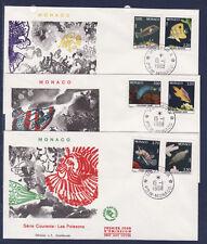 MONACO   enveloppe 1er jour   faune  poissons  1988