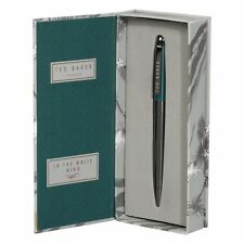 BNIB Ted Baker Electric Blue Sapphire Ballpoint Pen Rrp £40 Gift