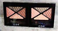 2 PACK Rimmel London Glam' Eyes Quad Eye Shadow #34 DIAMOND JUBILEE PG-26415030