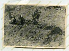 Foto, Wehrmacht, Grab Oberschütze Löber etc. Saucourt, Frankreich 20493