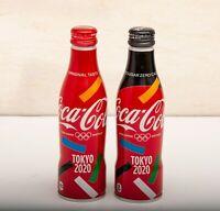 2020 Tokyo Olympic Coca Cola Zero Sugar Aluminum Full 250ml 2 Slim bottle Japan
