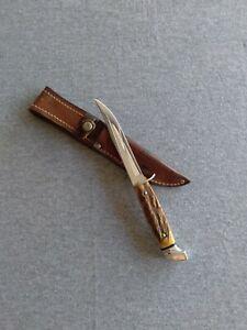 Vintage Case Big C-5 Finn Stag Hunting Knife