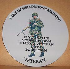 The Light Dragoons Veteran 9cm vinyl sticker personalised..