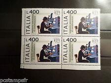 ITALIE ITALIA, 1976, timbre 1277, QUARTINA EXPO PHILATELIQUE neuf** VF MNH STAMP